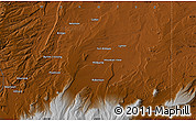 """Physical Map of the area around 41°16'52""""N,110°25'30""""W"""