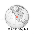 """Outline Map of the Area around 41° 16' 52"""" N, 111° 16' 30"""" W, rectangular outline"""