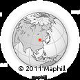 Outline Map of Ershihaodi, rectangular outline