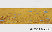 "Physical Panoramic Map of the area around 41° 16' 52"" N, 113° 58' 29"" E"