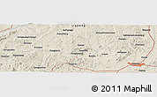 Shaded Relief Panoramic Map of Jinzhou