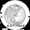 Outline Map of Huanren, rectangular outline
