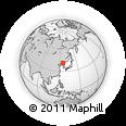 Outline Map of Beidianzi, rectangular outline