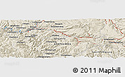 Shaded Relief Panoramic Map of Hyesan