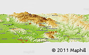 """Physical Panoramic Map of the area around 41°16'52""""N,14°31'30""""E"""