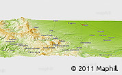 """Physical Panoramic Map of the area around 41°16'52""""N,15°22'30""""E"""