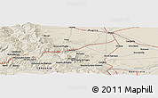 """Shaded Relief Panoramic Map of the area around 41°16'52""""N,15°22'30""""E"""