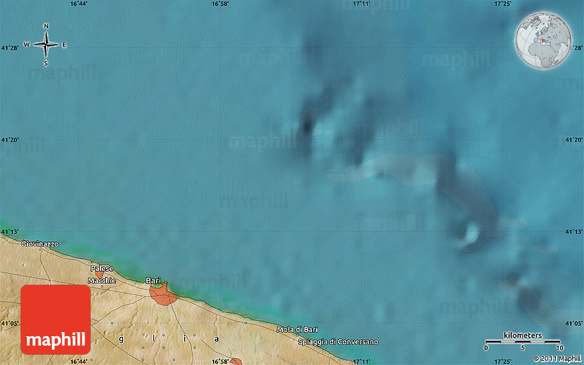 satellite map of palo del colle. Black Bedroom Furniture Sets. Home Design Ideas