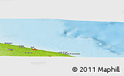 """Physical Panoramic Map of the area around 41°16'52""""N,17°4'30""""E"""