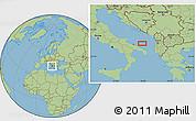 "Savanna Style Location Map of the area around 41°16'52""N,17°55'29""E"