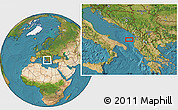 """Satellite Location Map of the area around 41°16'52""""N,18°46'29""""E"""
