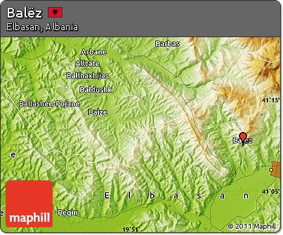 Physical Map of Balëz