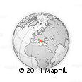 Outline Map of Mazha E Madhe, rectangular outline