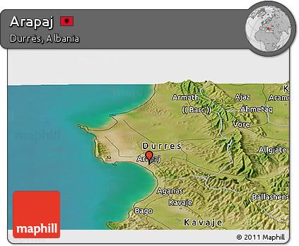 Free Satellite Panoramic Map of Arapaj