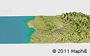 Satellite Panoramic Map of Broshkë