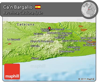 Physical Panoramic Map of Ca'n Bargalló