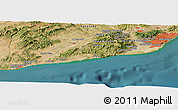 Satellite Panoramic Map of Sitges