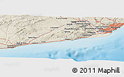 Shaded Relief Panoramic Map of Sitges