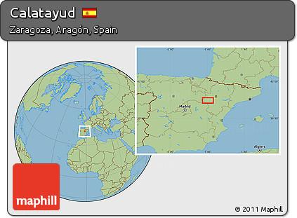 Calatayud Spain Map.Free Savanna Style Location Map Of Calatayud