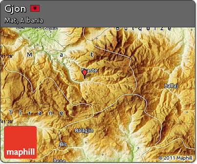 Physical Map of Gjon