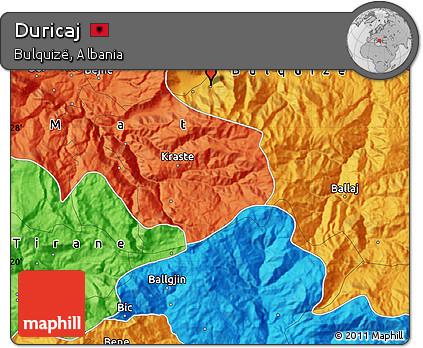 Political Map of Duricaj