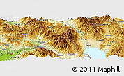 Physical Panoramic Map of Katund
