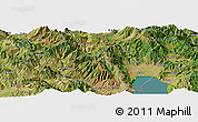 Satellite Panoramic Map of Arës