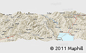 Shaded Relief Panoramic Map of Dardhë