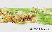 Physical Panoramic Map of Kavadarci