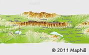 Physical Panoramic Map of Strumica