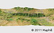 Satellite Panoramic Map of Strumica