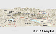 Shaded Relief Panoramic Map of Strumica