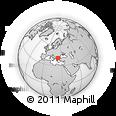 Outline Map of Sérrai, rectangular outline
