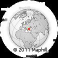 Outline Map of Tekirdağ, rectangular outline