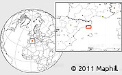 Blank Location Map of Badalona