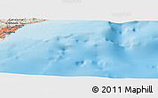 "Shaded Relief Panoramic Map of the area around 41° 16' 52"" N, 2° 37' 30"" E"