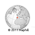 """Outline Map of the Area around 41° 16' 52"""" N, 2° 28' 30"""" W, rectangular outline"""