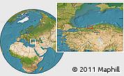 Satellite Location Map of Zonguldak