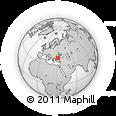 Outline Map of Zonguldak, rectangular outline