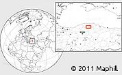Blank Location Map of Armutlu