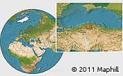 Satellite Location Map of Armutlu
