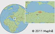 Savanna Style Location Map of Armutlu