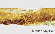 Physical Panoramic Map of Bekirli