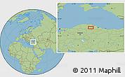 Savanna Style Location Map of Çayağzı