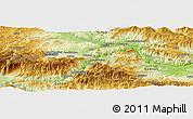 Physical Panoramic Map of Çayağzı
