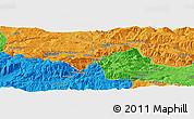Political Panoramic Map of Çayağzı