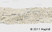 Shaded Relief Panoramic Map of Çayağzı