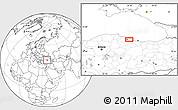Blank Location Map of Samsun