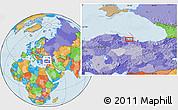 Political Location Map of Samsun