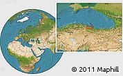 Satellite Location Map of Samsun